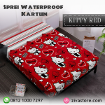 Sprei Waterproof Motif Hello Kitty